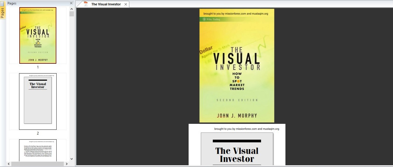 The Visual InvestorThe Visual Investor: How to Spot Market Trends (Wiley Trading) by John J. Murphy with MA Crosser Indicator