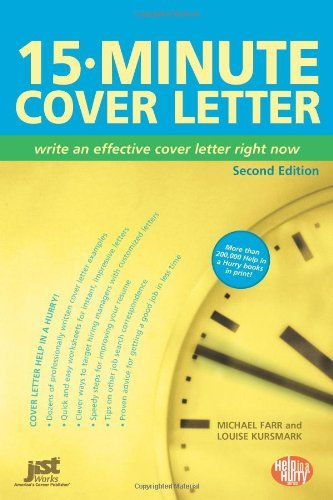 15 Minute Cover Letter Write An Effective Cover Letter Right Now