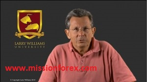 Larry Williams University TV lessons up close video of  charts and indicators