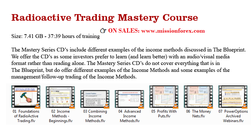 Radioactive Trading Mastery Course Home Study