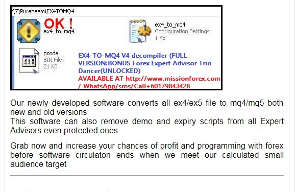 Convert ex4 to mq4 software forex