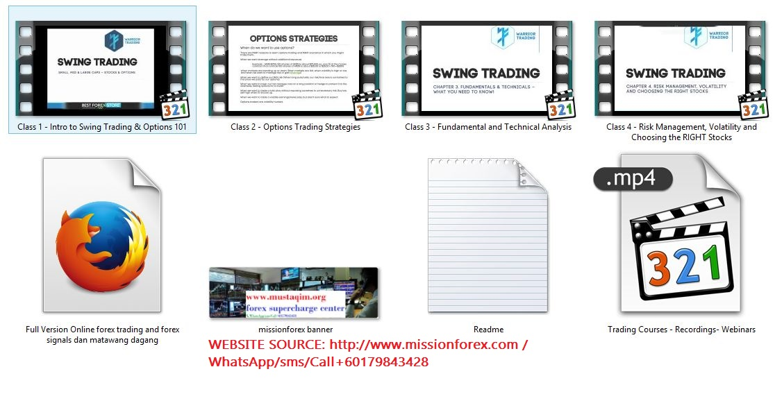Swing Trading Course Recordings