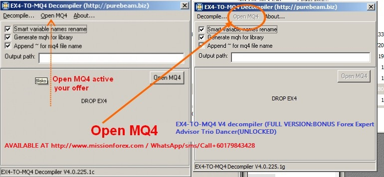 EX4-TO-MQ4 V4 decompiler (FULL VERSIONBONUS Forex Expert Advisor Trio Dancer(UNLOCKED)