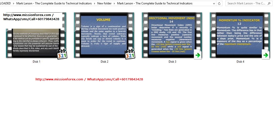 The Complete Guide to Technical Indicators 4 DVDs
